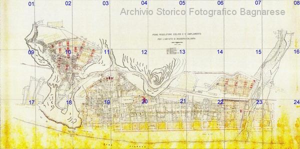 Bagnara mappa del progetto della ricostruzione dopo il 1908