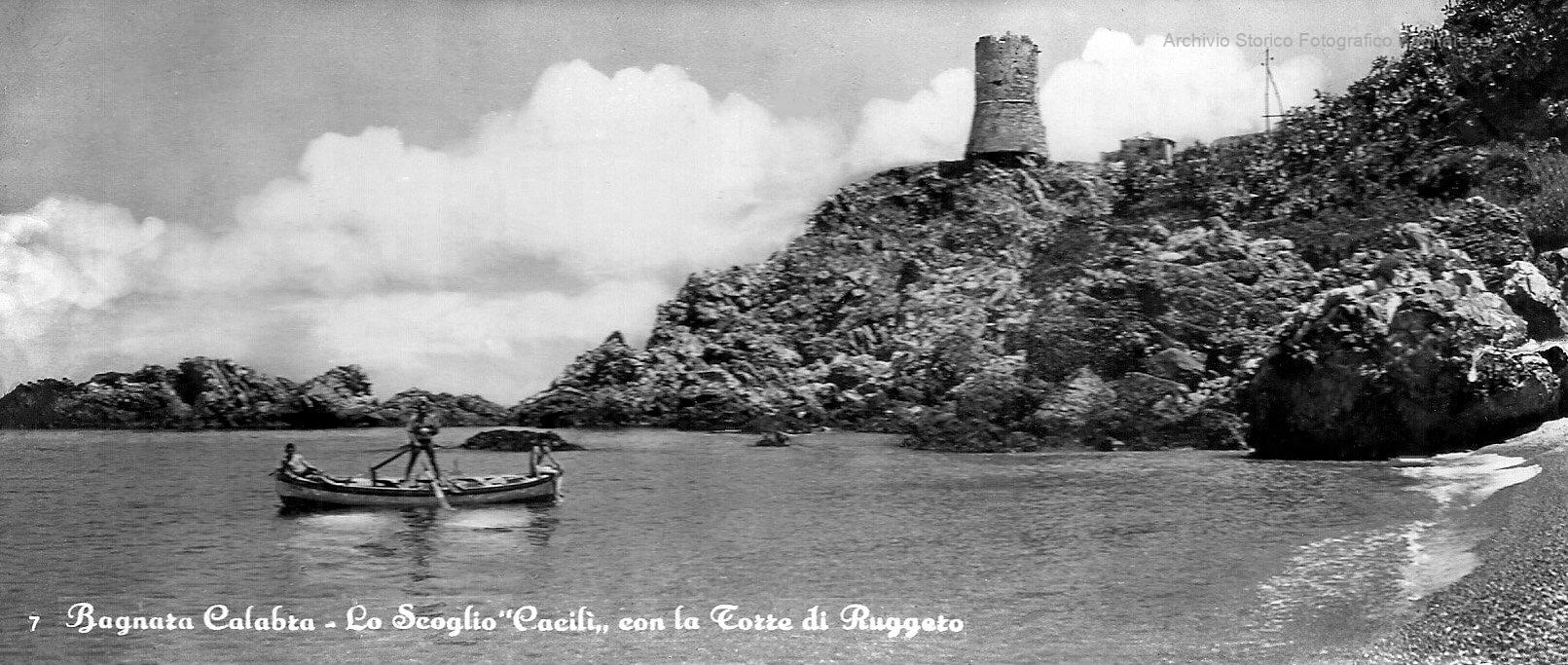 bagnara torre aragonese vista dal mare
