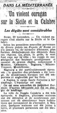 Figaro 30 n0vembre 1925  bagnara
